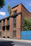 Fördärvar av övergiven fabrik Arkivfoto