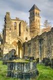 Fördärvar av abbotskloster av Orval i Belgien Royaltyfri Bild