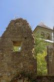 Fördärvar av abbotskloster av Orval i Belgien Fotografering för Bildbyråer