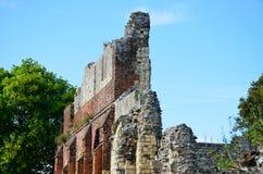 Fördärvar av abbotskloster av St Augustine Canterbury Royaltyfri Fotografi