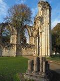 Fördärvar av abbotskloster för St Mary ` s Arkivfoton