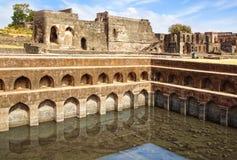 Fördärvar av afghansk arkitektur. Indien Arkivfoton