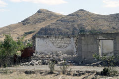 Fördärvar av Agdam, Nagorno-Karabakh Royaltyfri Bild