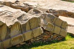 Fördärvar av Aksum (Axum), Etiopien Arkivbild