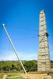 Fördärvar av Aksum (Axum), Etiopien Arkivfoto