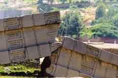 Fördärvar av Aksum (Axum), Etiopien Royaltyfri Fotografi