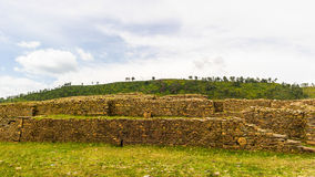 Fördärvar av Aksum (Axum), Etiopien Royaltyfria Foton