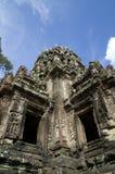 Fördärvar av Angko Tom, Cambodja Arkivfoton