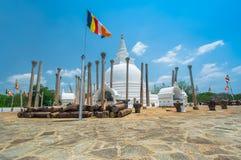 Fördärvar av Anuradhapura, Sri Lanka Arkivfoton