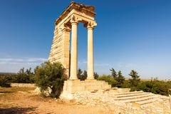 Fördärvar av Apollo Hylates - huvudsaklig religiös mitt av forntida Cypern Royaltyfria Foton