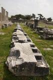 Fördärvar av Asklepion i Pergamum (Pergamon), Bergama, Turkiet Arkivfoton
