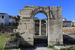 Fördärvar av Aten, den forntida marknadsplatsen, Grekland Arkivbilder