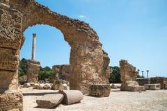 Fördärvar av baden av Antoninus carthage tunisia royaltyfri bild