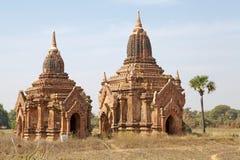 Fördärvar av Bagan, Myanmar Arkivfoto