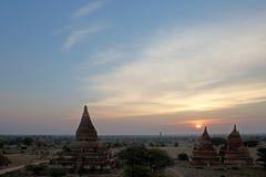Fördärvar av Bagan, Myanmar Royaltyfri Fotografi