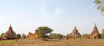 Fördärvar av Bagan, Myanmar Arkivbild