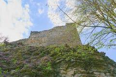 Fördärvar av befästningbålverket Medeltida vall Royaltyfria Foton