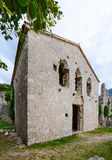 Fördärvar av biskopens slott (XV--XVIårhundradet), den gamla stången, Mont Arkivfoto