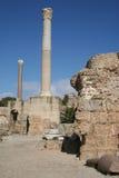 Fördärvar av Carthage Arkivbilder