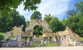 Fördärvar av Carthage. Schonbrunn. Wien Österrike Royaltyfri Foto