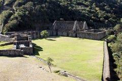 Fördärvar av Choquequirao, Peru. Arkivbilder