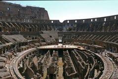 Fördärvar av Colosseumen, Rome italy Arkivfoto