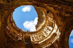 Fördärvar av Conventoen de Monjes Servitas, Teruel, Aragon, Spanien Arkivbilder