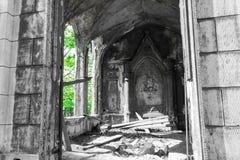 Fördärvar av de gotiska byggnaderna Arkivfoton