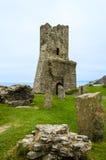 Fördärvar av den Aberystwyth slotten – Wales, Förenade kungariket Royaltyfria Foton