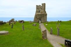 Fördärvar av den Aberystwyth slotten – Wales, Förenade kungariket Royaltyfria Bilder