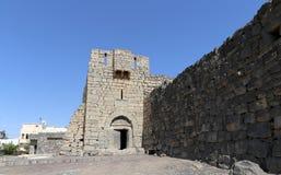 Fördärvar av den Azraq slotten, denöstliga Jordanien, 100 km öst av Amman Arkivbild