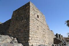 Fördärvar av den Azraq slotten, denöstliga Jordanien, 100 km öst av Amman Arkivfoto