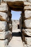 Fördärvar av den Azraq slotten, denöstliga Jordanien, 100 km öst av Amman Arkivbilder