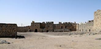 Fördärvar av den Azraq slotten, denöstliga Jordanien, 100 km öst av Amman Arkivfoton