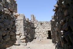 Fördärvar av den Azraq slotten, denöstliga Jordanien, 100 km öst av Amman Royaltyfria Bilder