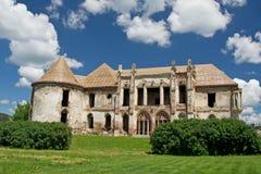 Fördärvar av den Banffy slotten i Bontida Arkivbild