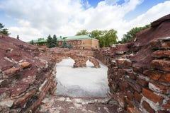Fördärvar av den Brest fästningen Arkivbild