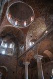 Fördärvar av den bysantinska slottstaden av Mystras Royaltyfri Fotografi