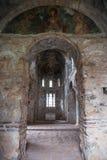 Fördärvar av den bysantinska slottstaden av Mystras Arkivfoto