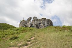 Fördärvar av den Bzyb templet i Abchazien Royaltyfria Bilder
