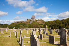 Fördärvar av den Corfe slotten, Dorset, England Royaltyfri Fotografi
