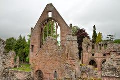 Fördärvar av den Dryburgh abbeyen Royaltyfri Bild