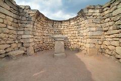 Fördärvar av den forntida grekiska kolonin Khersones Royaltyfri Fotografi