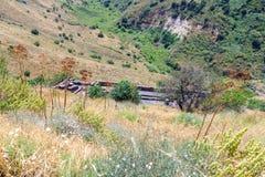 Fördärvar av den forntida judiska staden av Gamla på Golan Heights Förstört av arméerna av Roman Empire i den 67th årsANNONSEN Royaltyfri Fotografi