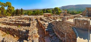 Fördärvar av den forntida Knossos slotten Arkivbild