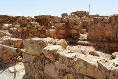 Fördärvar av den forntida Masadaen, det sydliga området, Israel royaltyfri fotografi