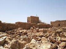 Fördärvar av den forntida Masadaen, det sydliga området, Israel fotografering för bildbyråer