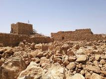 Fördärvar av den forntida Masadaen, det sydliga området, Israel arkivbild