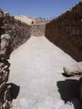 Fördärvar av den forntida Masadaen, det sydliga området, Israel royaltyfri bild