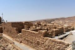 Fördärvar av den forntida Masadaen, det sydliga området, Israel royaltyfria bilder